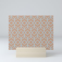 Sand Storm Beige Pastel Blue Teardrop Pattern 2021 Color of The Year Canyon Dusk Early September Mini Art Print