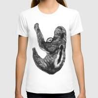 sloths T-shirts featuring Family of  three-toed sloths by Sega-l