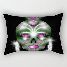 Mowhawk skull Rectangular Pillow