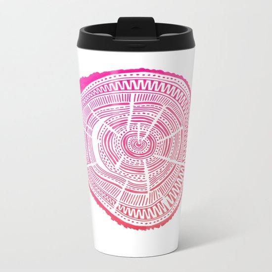 Ponderosa Pine – Pink Ombré Palette Metal Travel Mug
