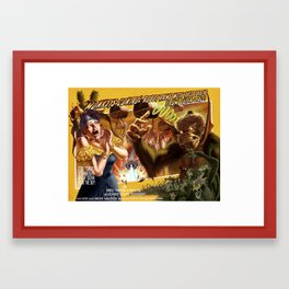 MONKEYS CONTROL ROBOT ARMS WITH THEIR BRAINS Framed Art Print