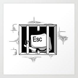 Esc Escape Art Print