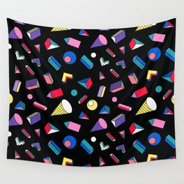 3D Shapes - 90's Pattern Wall Tapestry