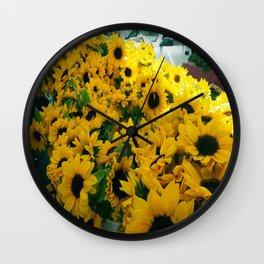 Farmer's Market Flowers Wall Clock