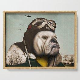 "Wing Commander, Benton ""Bulldog"" Bailey of the RAF Serving Tray"