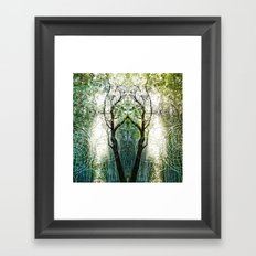 Bamboo Forest Geometry Framed Art Print
