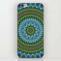 mandala iPhone & iPod Skins featuring Mandala by David Zydd