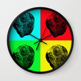 Pop Art Fossil Wall Clock
