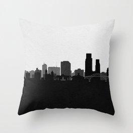 City Skylines: Corpus Christi Throw Pillow