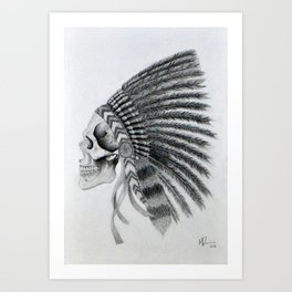 Native American Headdress Art Print