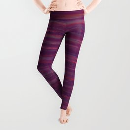 Stripes  - purple and red Leggings
