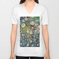 infinity V-neck T-shirts featuring Infinity by HillaryFrye