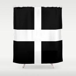 Saint Piran's Flag of Cornwall UK Shower Curtain