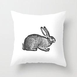 Rabbit Hare Throw Pillow