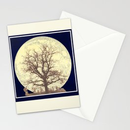 Under a Harvest Moon Stationery Cards