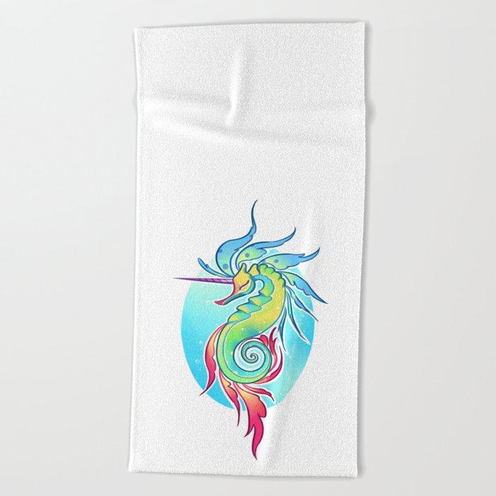 Sea Unicorn Beach Towel
