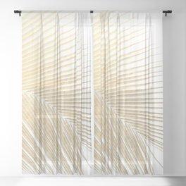 Palm leaf - gold Sheer Curtain