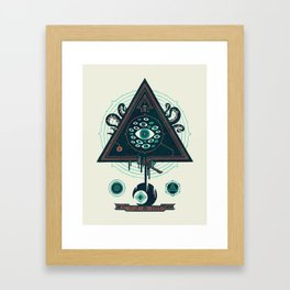 All Seeing Framed Art Print