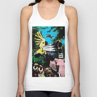 wildlife Tank Tops featuring Wildlife by Pierre-Paul Pariseau
