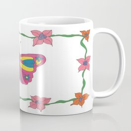 Butterfly and Blooms Coffee Mug