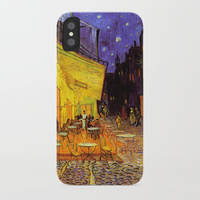 vincent van gogh cafe terrace at night iphone case