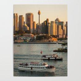 Cruising Sydney Harbour Poster