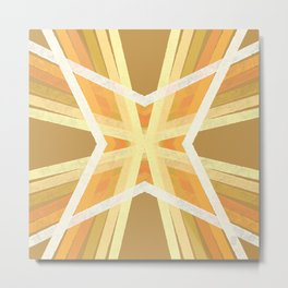 Yellow Quilt Square Metal Print