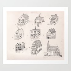 12 tiny houses Art Print