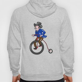 Gentleman Riding Penny-farthing Cartoon Hoody