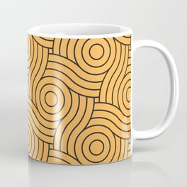 Circle Swirl Pattern VA Bright Marigold - Spring Squash - Pure Joy - Just Ducky Coffee Mug