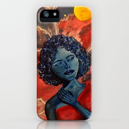 Girl in thought iPhone Case