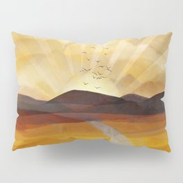 Desert in the Golden Sun Glow II Pillow Sham