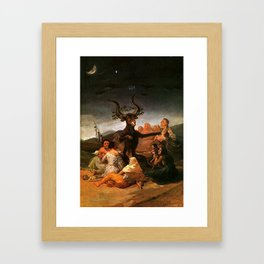 The Sabbath of witches - Goya Framed Art Print