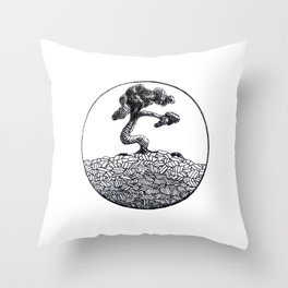 Its a Tree in a Circle Throw Pillow