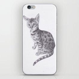 Bengal Cat Drawing iPhone Skin