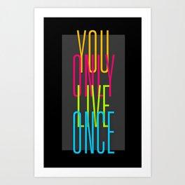 Simple YOLO Cascade Art Print