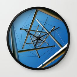 """The Sculpture """"Needle Tower"""" by Kenneth Snelson in Washington, D.C.  Wall Clock"""