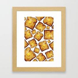 Toast Pattern Framed Art Print