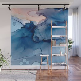 Hallowed Fluid ink abstract watercolor Wall Mural