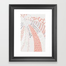 Orange world Framed Art Print