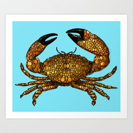 Stone Rock'd Stone Crab By Sharon Cummings Art Print