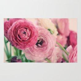 Ranunculus in Pink Rug