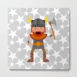 A Mighty Viking Metal Print