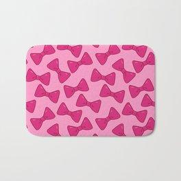 Bow Pattern - Dolly Pink Bath Mat
