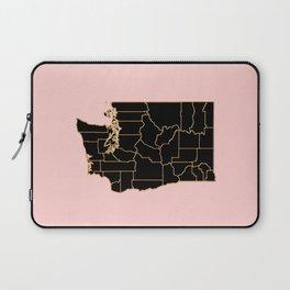 Washington map Laptop Sleeve