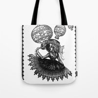 kobe Tote Bags featuring Love Monochrome by AKIKO