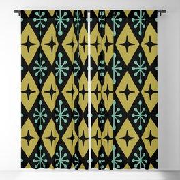Mid Century Modern Atomic Triangle Pattern 110 Blackout Curtain