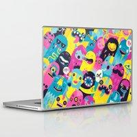 monsters Laptop & iPad Skins featuring Monsters by Lienke Raben