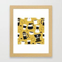 Do you even coffee? (mustard) Framed Art Print