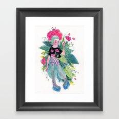 Flower Fae Framed Art Print